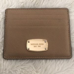 MK leather card wallet